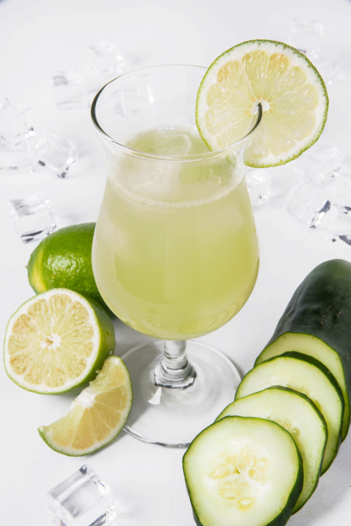 Cucumber limeade summer cocktail